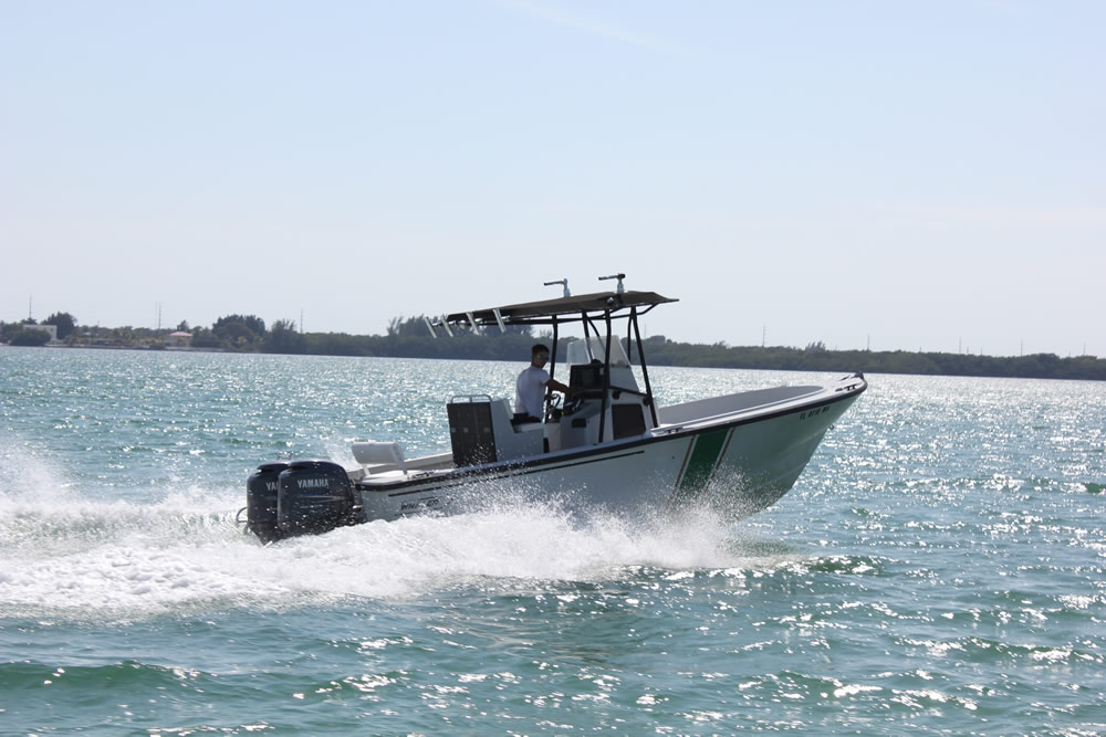 This Is A Decommissioned Florida Fish And Wildlife Boat With Twin 150 Yamahas We Call It The FWC