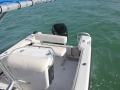 24' Marathon rental boat seating